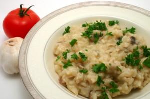 orez cu ciuperci masline