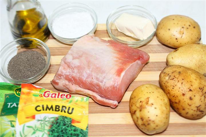 ingrediente friptura de porc