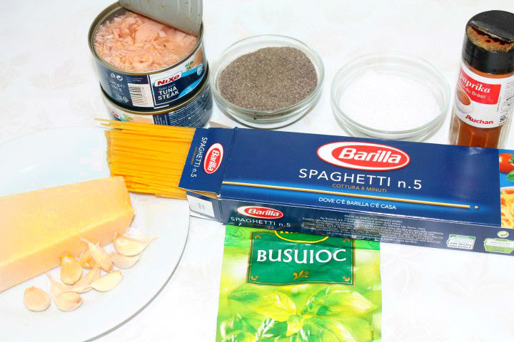 ingrediente paste cu ton
