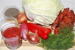 ingrediente varza cu carne