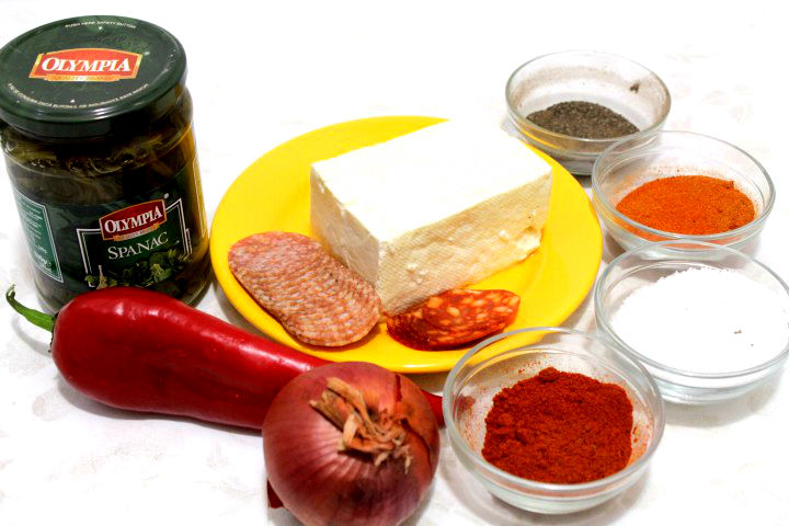 ingrediente rulada spanac