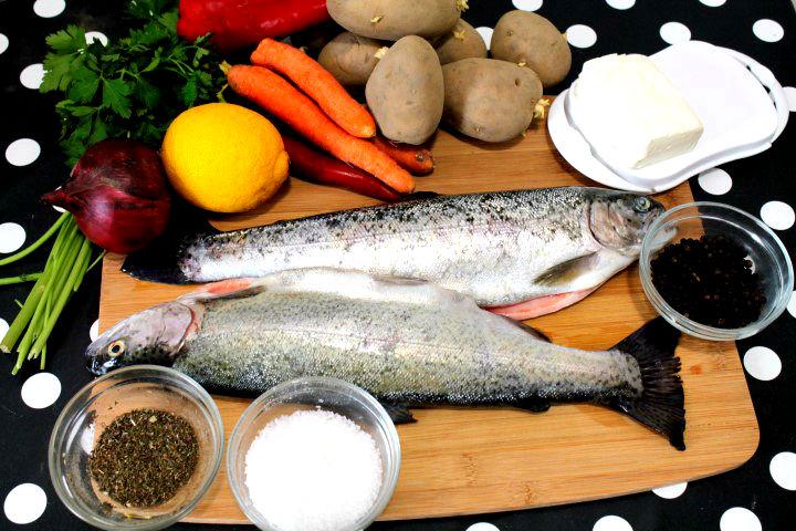 ingrediente pastrav la cuptor