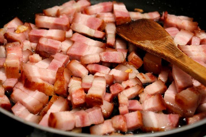 bacon la prajit