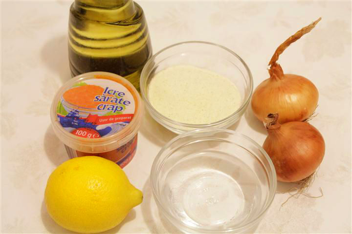 ingrediente salata de icre